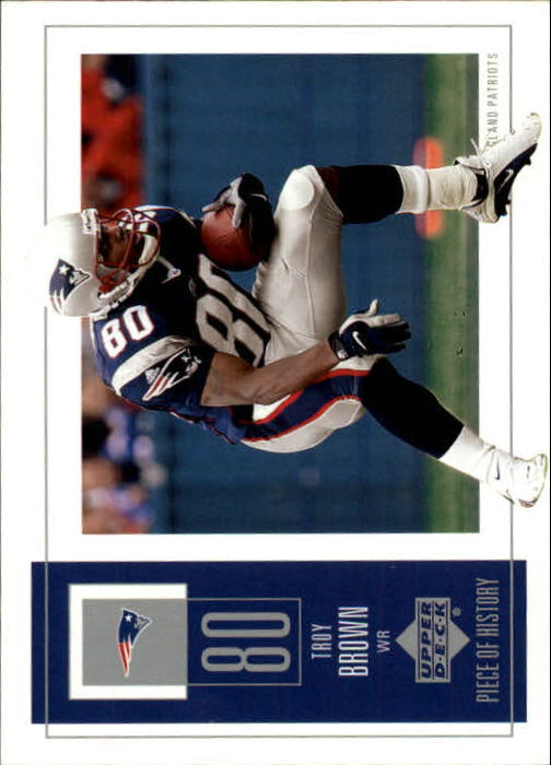 2002 UD Piece of History #59 Troy Brown