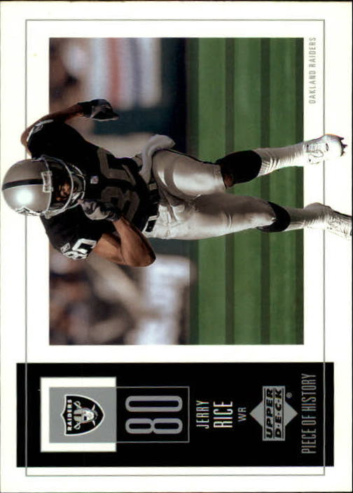 2002 UD Piece of History #70 Jerry Rice