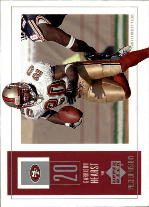 2002 UD Piece of History #83 Garrison Hearst