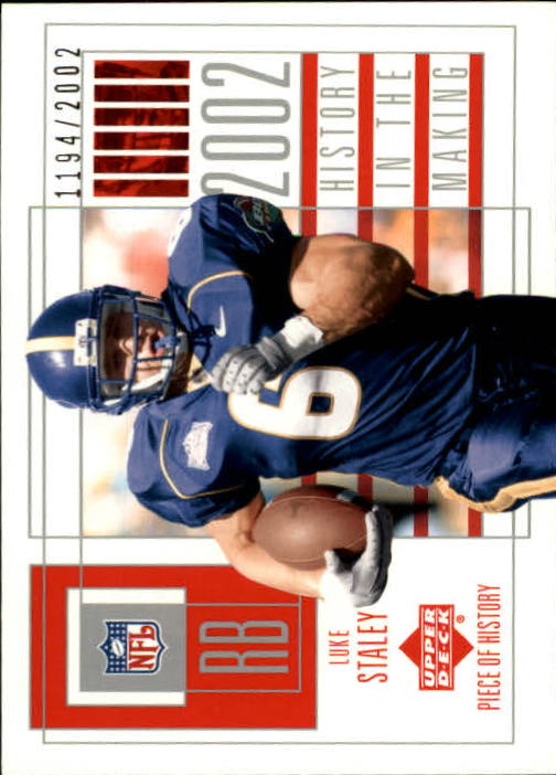 2002 UD Piece of History #118 Luke Staley RC
