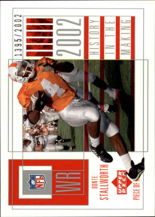 2002 UD Piece of History #130 Donte Stallworth RC