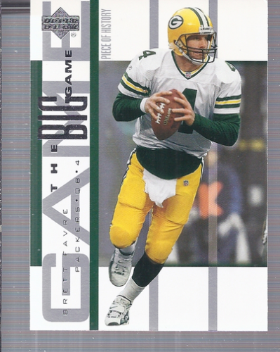 2002 UD Piece of History The Big Game #BG14 Brett Favre front image