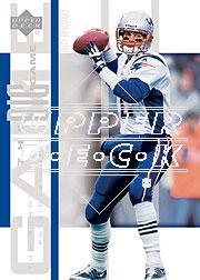 2002 UD Piece of History The Big Game #BG18 Tom Brady