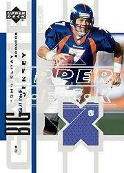 2002 UD Piece of History The Big Game Jersey Patches #BGJJE John Elway front image