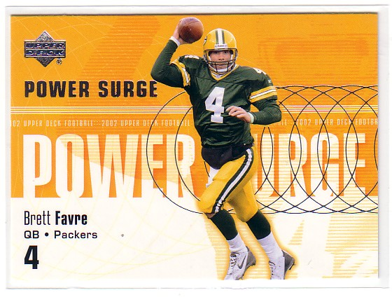 2002 Upper Deck Power Surge #PS5 Brett Favre