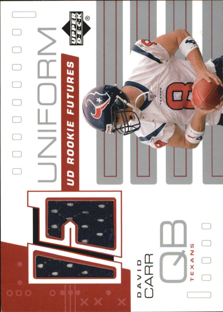 2002 Upper Deck Rookie Futures Jersey #RFDC David Carr
