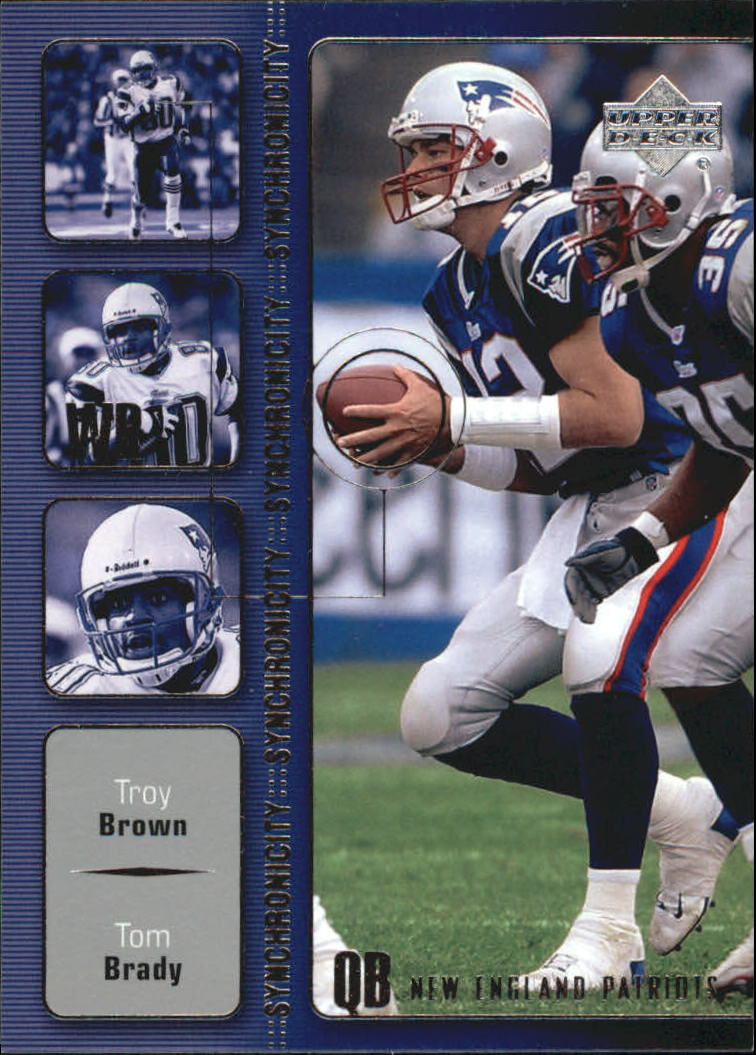 2002 Upper Deck Synchronicity #SY9 Tom Brady/Troy Brown