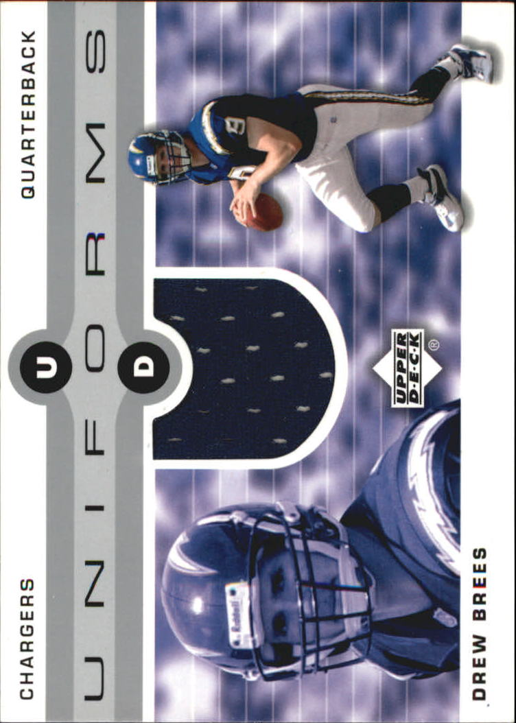 2002 Upper Deck Uniforms #UDUDB Drew Brees