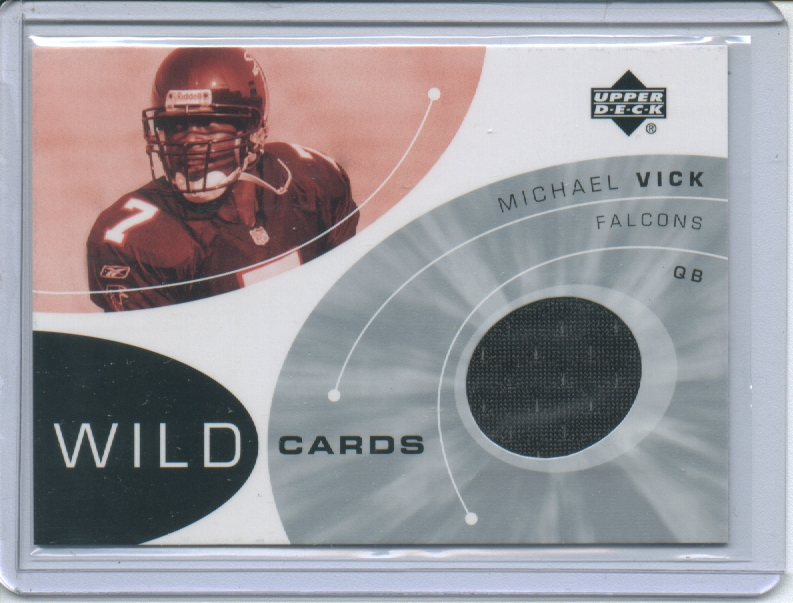 2002 Upper Deck Wildcard Jerseys #WCMV Michael Vick