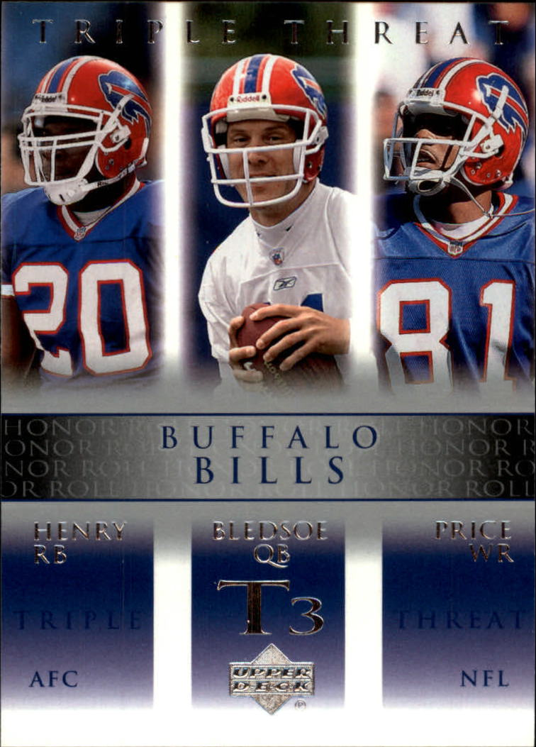 2002 Upper Deck Honor Roll #64 Drew Bledsoe/Travis Henry/Peerless Price