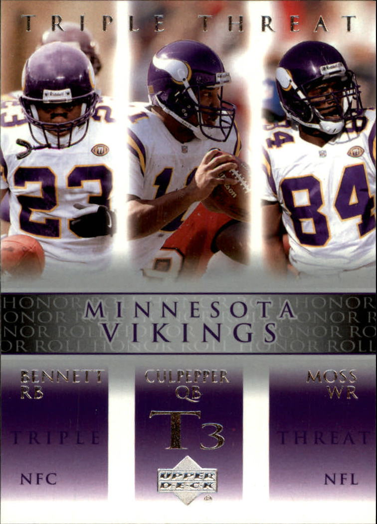2002 Upper Deck Honor Roll #76 Daunte Culpepper/Michael Bennett/Randy Moss