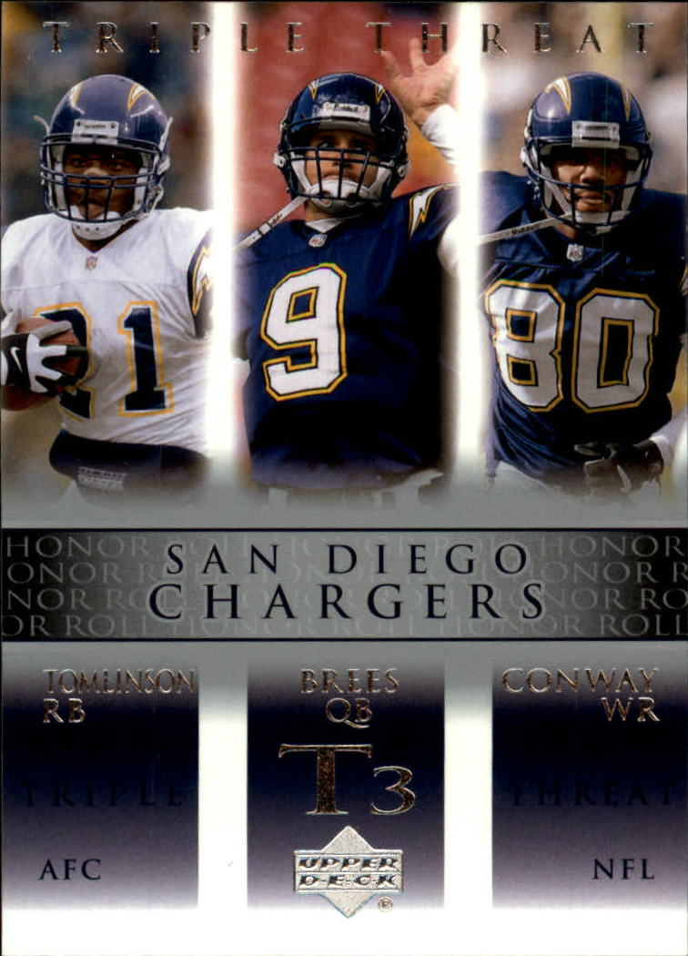 2002 Upper Deck Honor Roll #84 Drew Brees/LaDainian Tomlinson/Curtis Conway