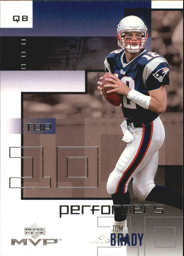 2002 Upper Deck MVP Top 10 Performers #TT3 Tom Brady