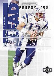 2002 Upper Deck Ovation Lead Performers #LP20 Tom Brady