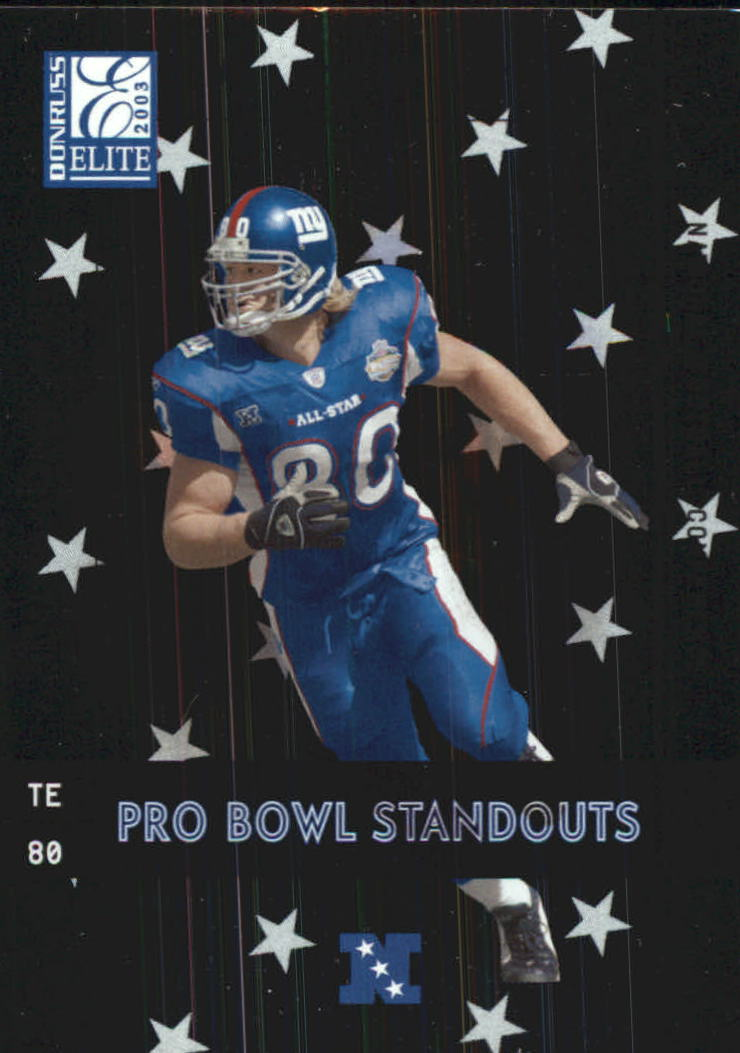 2003 Donruss Elite Pro Bowl Standouts #PB7 Jeremy Shockey