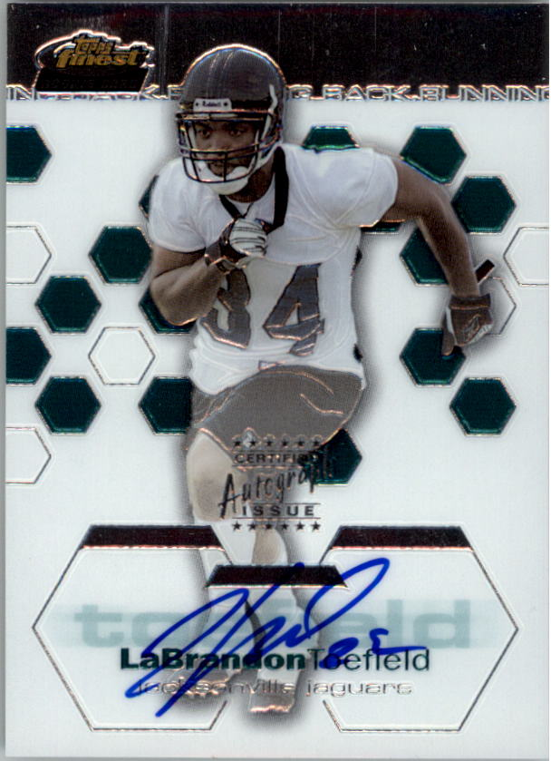 2003 Finest #138 LaBrandon Toefield AU RC