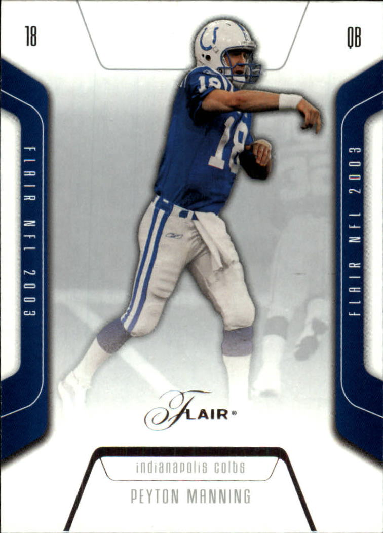 2003 Flair #19 Peyton Manning