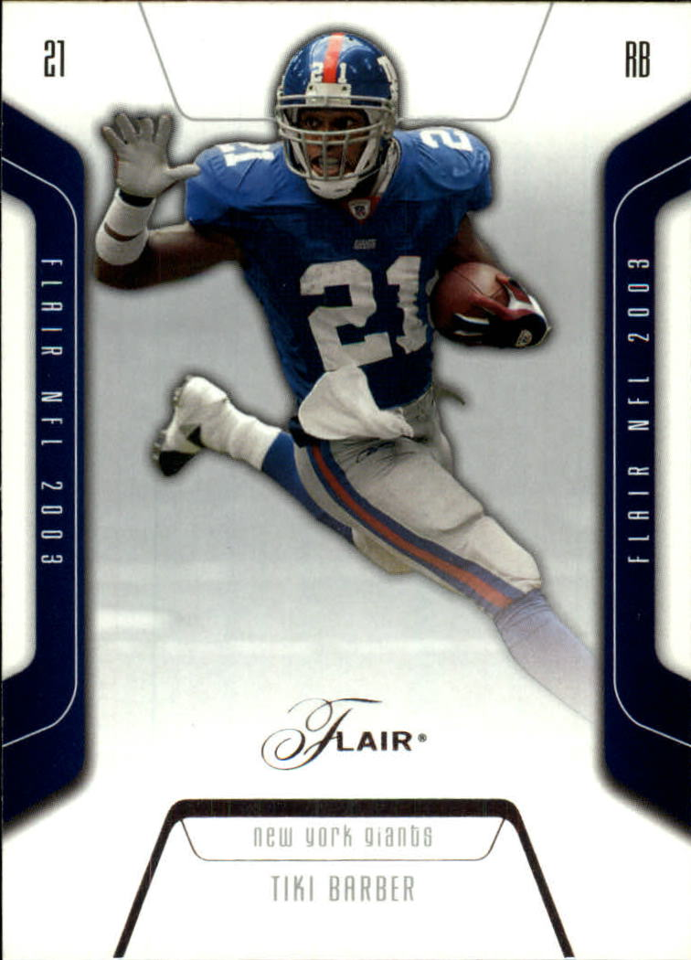 2003 Flair #22 Tiki Barber