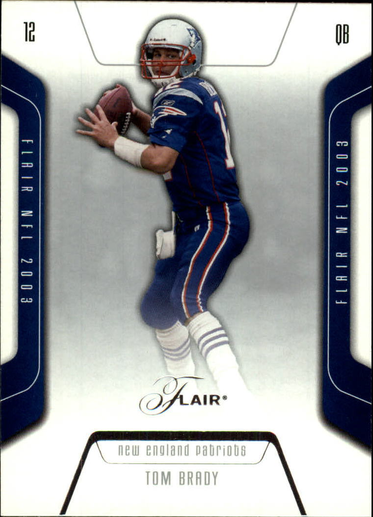 2003 Flair #61 Tom Brady