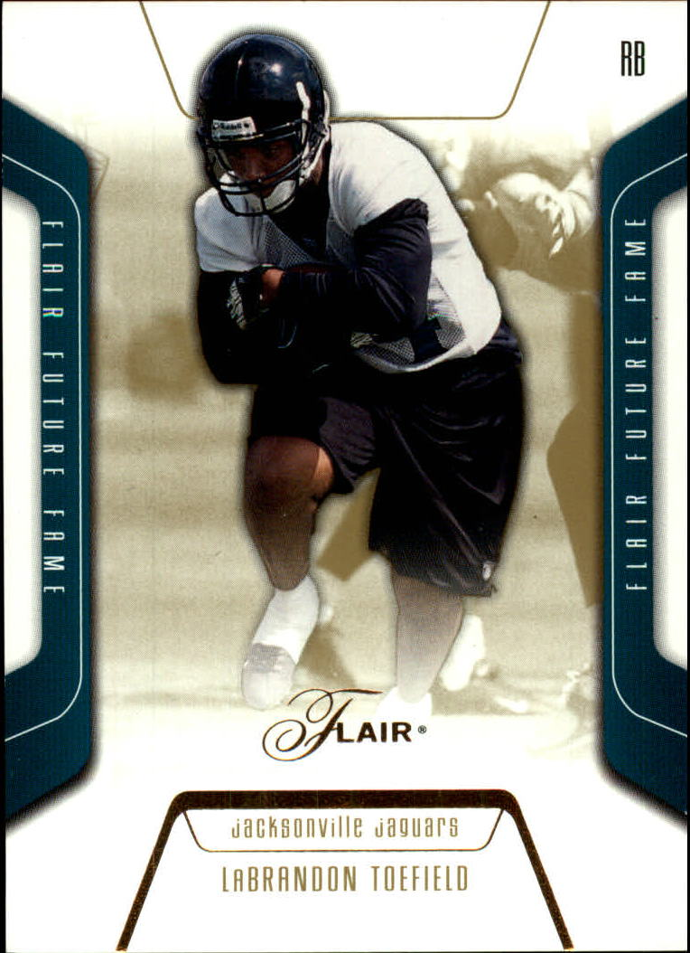 2003 Flair #129 LaBrandon Toefield RC