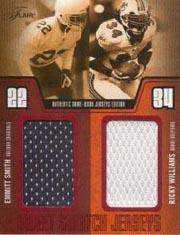 2003 Flair Sweet Swatch Jerseys Duals Jumbo #ESRW Emmitt Smith/Ricky Williams