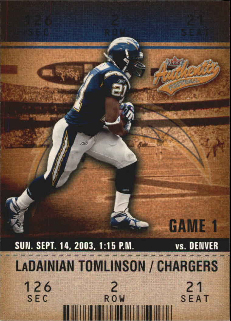 2003 Fleer Authentix #53 LaDainian Tomlinson