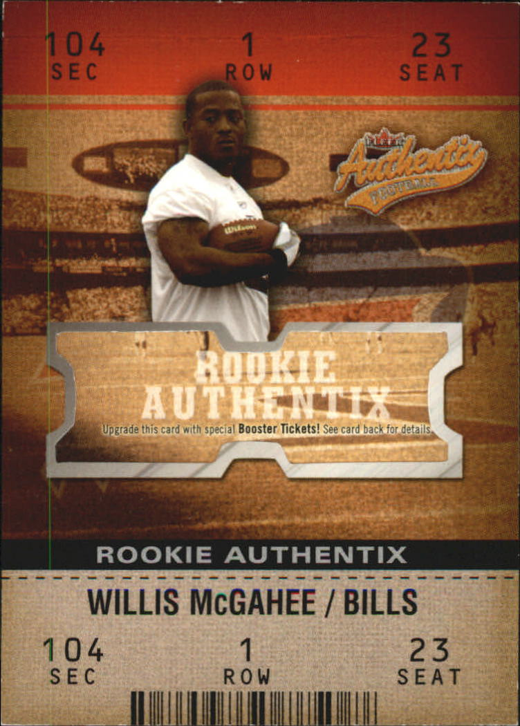 2003 Fleer Authentix #105 Willis McGahee RC front image