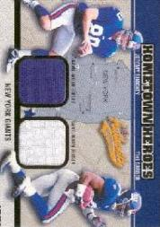 2003 Fleer Authentix Hometown Heroes Memorabilia #JSTB Jeremy Shockey/Tiki Barber