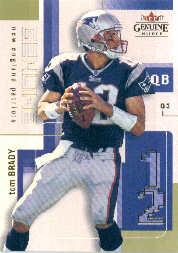 2003 Fleer Genuine Insider #11 Tom Brady