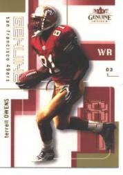 2003 Fleer Genuine Insider #24 Terrell Owens