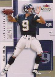 2003 Fleer Genuine Insider #80 Drew Brees