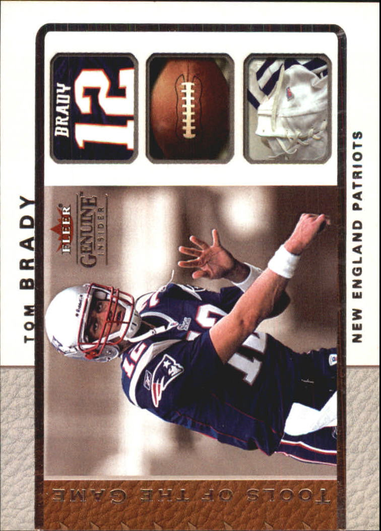 2003 Fleer Genuine Insider Tools of the Game #6 Tom Brady
