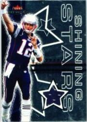 2003 Fleer Mystique Shining Stars Jerseys #TB Tom Brady