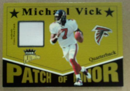 2003 Fleer Platinum Patch of Honor #PHMV Michael Vick/219