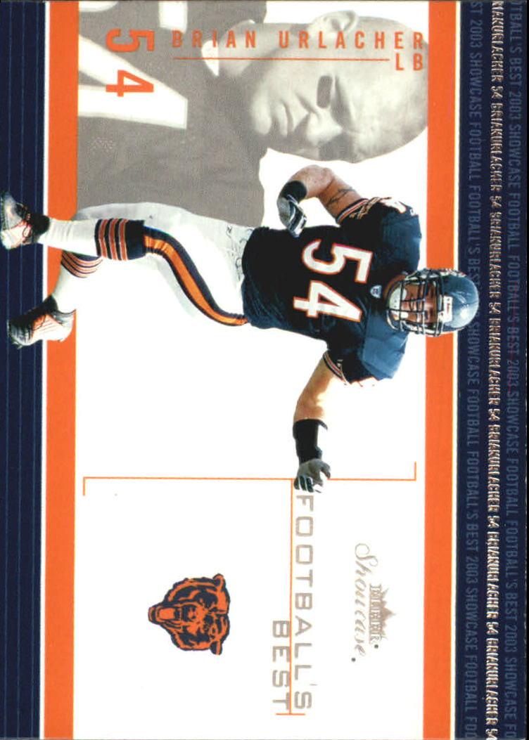 2003 Fleer Showcase Football's Best #3 Brian Urlacher