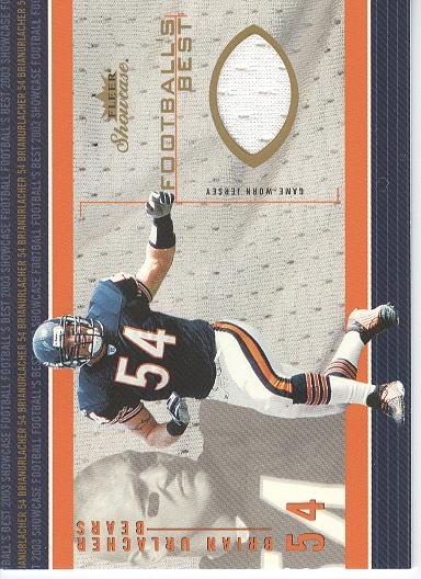2003 Fleer Showcase Football's Best Jerseys #FBBU Brian Urlacher JE