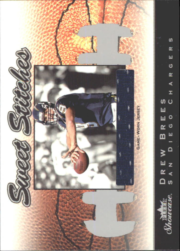 2003 Fleer Showcase Sweet Stitches Jerseys #1 Drew Brees