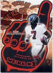 2003 Fleer Snapshot We're Number One #3A Michael Vick/2001