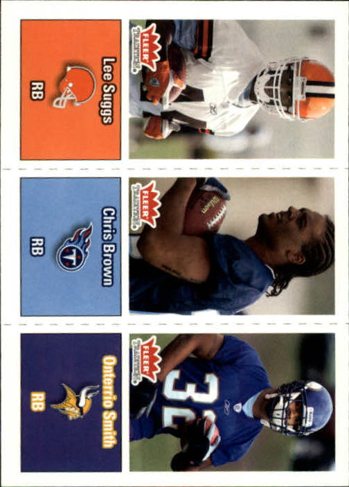 2003 Fleer Tradition #285 Lee Suggs RC/Chris Brown RC/Onterrio Smith RC