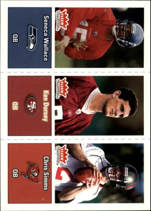 2003 Fleer Tradition #291 Seneca Wallace RC/Ken Dorsey RC/Chris Simms RC