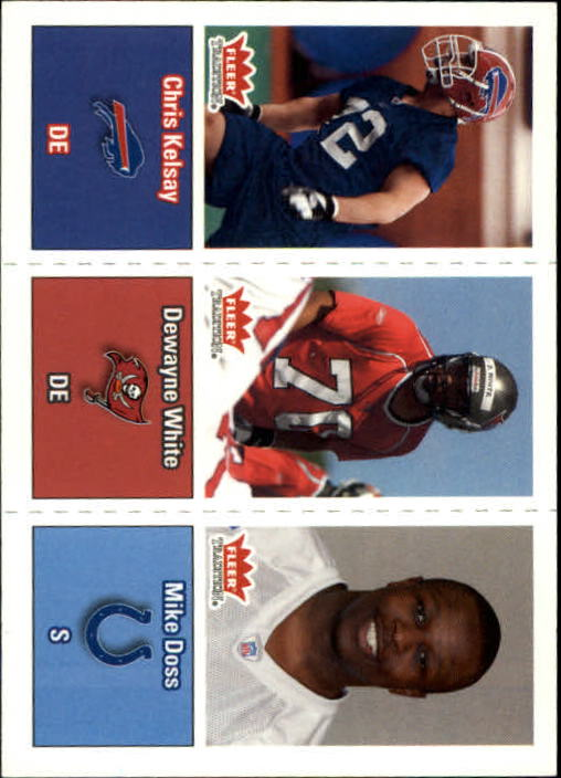 2003 Fleer Tradition #297 Chris Kelsay RC/Dewayne White RC/Mike Doss RC