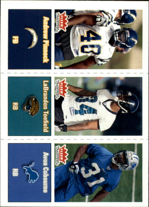 2003 Fleer Tradition #300 Andrew Pinnock RC/LaBrandon Toefield RC/Avon Cobourne RC