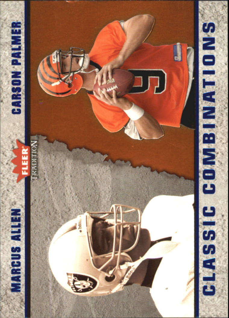 2003 Fleer Tradition Classic Combinations #5 Marcus Allen/Carson Palmer front image