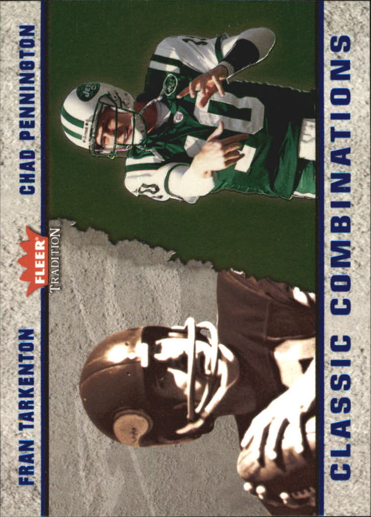 2003 Fleer Tradition Classic Combinations #6 Fran Tarkenton/Chad Pennington