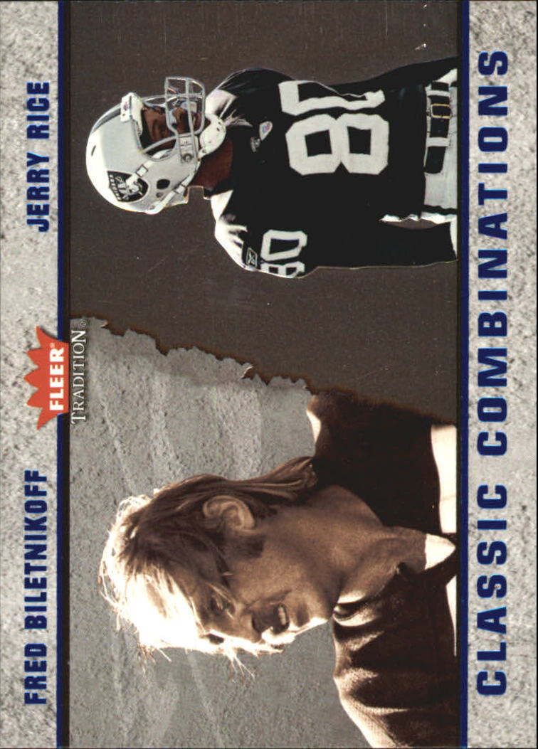 2003 Fleer Tradition Classic Combinations #17 Fred Biletnikoff/Jerry Rice