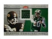 2003 Fleer Tradition Classic Combinations Memorabilia #12 Chad Pennington JSY/Fran Tarkenton