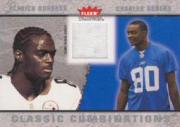 2003 Fleer Tradition Classic Combinations Memorabilia #19 Plaxico Burress JSY/Charles Rogers