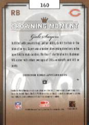 2003 Gridiron Kings #160 Gale Sayers back image