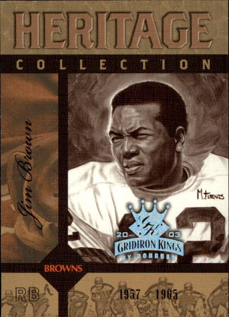 2003 Gridiron Kings Heritage Collection #HC12 Jim Brown