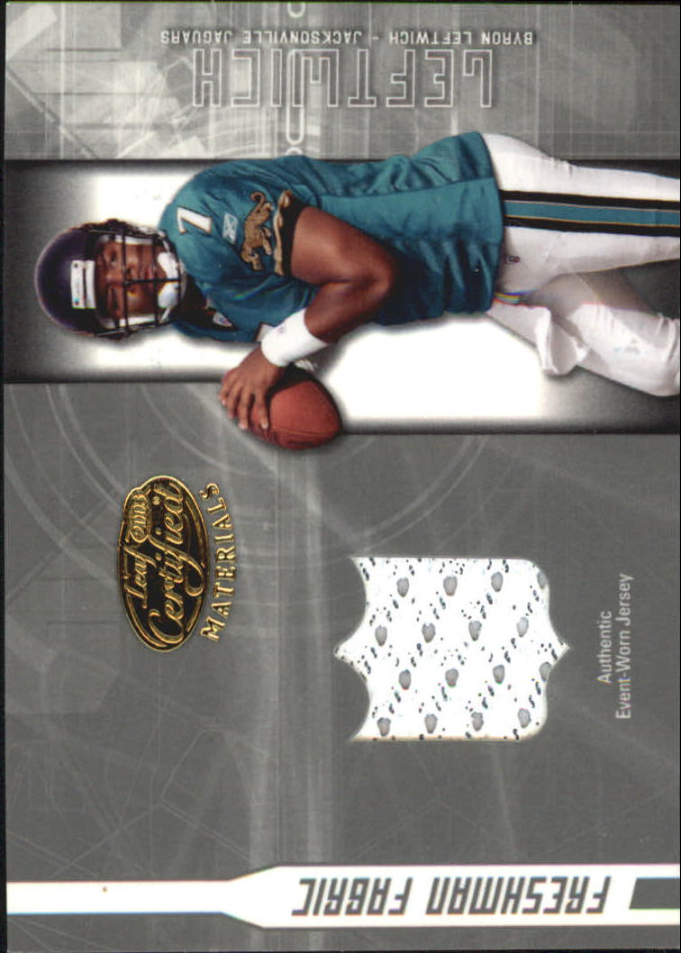2003 Leaf Certified Materials #152 Byron Leftwich JSY RC